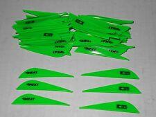 "36 Bohning 2.5"" HEAT Vanes! Neon Green Target 3D Hunting Arrow Accessory"