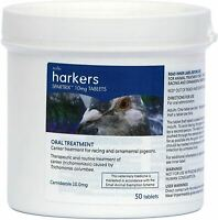 Harkers Spartrix Canker Treatment for Racing & Ornamental Pigeons - 50 Tablets