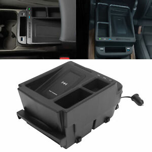 15W Wireless Charger Armrest Storage Box Replacement for Honda CRV 2017-2021