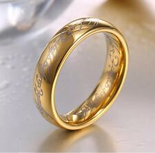 """Lord of the Rings Hobbit """"The One Ring"""" Titanium Stainless Steel Usa Seller"""