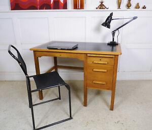 Antique Vintage retro Oak ABBESS OFFICE DESK 1950s MCM home desk design