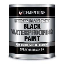 Black Bitumen Paint 1 litre waterproof roofing