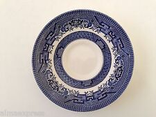 Churchill Blue Willow - COFFEE / TEA CUP SAUCER - Stamped Mark - Made in England