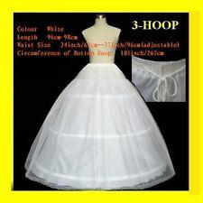 new white 2 layers 3 Hoop A Line Ball gown wedding bridal petticoat crinoline