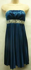 """*NWT Speechless """"Blue"""" Strapless Cocktail Prom Evening Formal Dress sz Small"""
