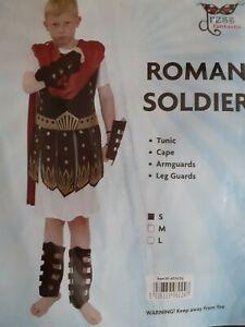 Boy's Roman Soldier Dress UP Fancy Dress Costume