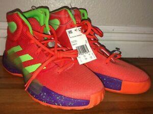Adidas Pro Bounce Madness 11222 Rare Basketball Shoes Orange Mens NWT