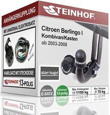Für Citroen BERLINGO I 2003-2008 Anhängerkupplung starr + E-SATZ 13-polig ABE