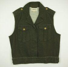 Ralph Lauren Denim & Supply Cotton Military Vest Jacket Women's Large Green