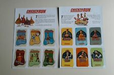 two sets of six chicken run phonecards unused.