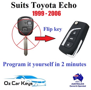 FOR TOYOTA ECHO REMOTE FLIP TRANSPONDER KEY 1999 2000 2001 2002 2003 2004 2005