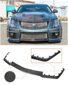 For 09-15 Cadillac CTS-V | CARBON FIBER Package Front Bumper Lower Lip Splitter