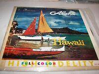 ALOHA HAWAII THE POLYNESIANS LP VG Crown 5044 1957