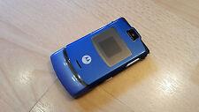 Motorola RAZR v3 in blu/senza SIM-lock/senza branding/Pieghevole cellulare * tabulazione *