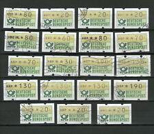 55 Briefmarken Sammlung ATM Automatenmarken BRD BUND Lot Konvolut gestempelt