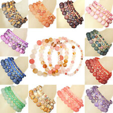 Natural Matte Gemstone Round Beads Beaded Stretch Bracelet 4mm 6mm 8mm 10mm