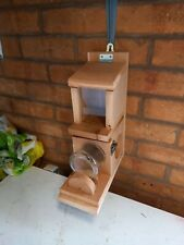 SQUIRREL FEEDER WOOD HANDMADE with canadian red cedar timber tower