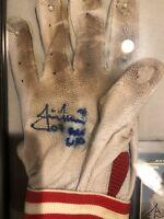 2007 JUSTIN MORNEAU GAME USED MINNESOTA TWINS Batting Glove MVP