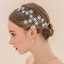Wedding Bridal Star Headband Rhinestone Tiara Crown Crystal Hair Band Headdress
