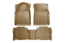 2010-2013 Toyota Tundra Husky WeatherBeater Front & 2nd Row Tan Floor Liners
