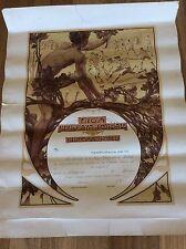 CALCIO ANNI '10 - '20 RARO DIPLOMA D' ONORE URUGUAY LIGA URUGUAYA DE FOOTBALL