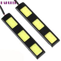 1pair 12V 9.2cm 3 COB LED Car Daytime L616 hot fashion DRL Auto 900LM Lights