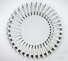 XXL Wall Mirror Round Glass Frame Flur-Spiegel 91x91cm Woe New