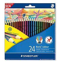 Staedtler Noris Colour 24 Wopex Hexagonal Coloured Pencils Break Resistant Leads
