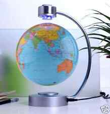 Magnetic Floating Blue Globe World Map Levitation LED Maglev Levitating Decor 8""