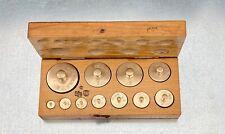 alte Gewichte für Waage/Messing/Holzkasten