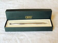 Cross Ballpoint Pen w/Box Silver Tone Black Ink   L1i