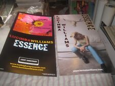 LUCINDA WILLIAMS-ESSENCE-1 POSTER FLAT-2 SIDED-12X24 INCHES-NMINT-RARE!!!