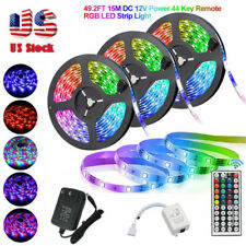 49FT 32FT Flexible 3528 RGB LED SMD Luz de Tira Luces de Hadas Habitación Fiesta Bar USCC