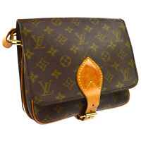 LOUIS VUITTON CARTOUCHIERE MM SHOULDER BAG PURSE MONOGRAM M51253 832 AK38480b