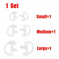 3Pairs Silicone Ear Bud for Acoustic Tube Earpiece For Two-way Radio Headset
