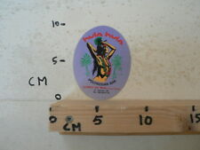 STICKER,DECAL PIN-UP GIRL HULA HULA POLYNISIAN BAR LLORET DE MAR COSTA BRAVA