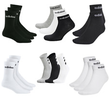 Adidas Socks Mens Womens 3 Pairs Ankle Quarter Crew Socks Cushioned Sock Size