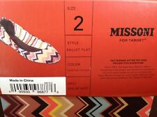 NIB Girls Missoni for Target Size 2 Chevron Print Ballet Flat New in Box