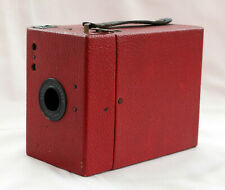 KODAK PORTRAIT HAWKEYE STAR BOX CAMERA IN RED.