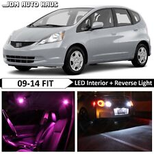 10x Pink Interior + Reverse LED Lights Bulb Package Fits Honda Fit 2009-2014