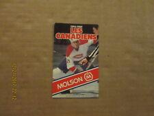 NHL Montreal Canadiens Vintage 1984-1985 Molson Logo Hockey Pocket Schedule