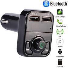 Transmisor FM Cargador USB Reproductor MP3 Manos Libres Bluetooth para Coche