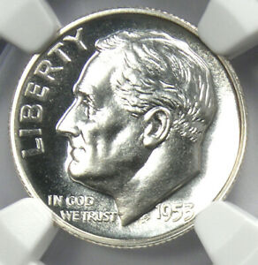 1953 PROOF Roosevelt Dime 10C Coin - Certified NGC PR69 (PF69) - $575 Value!