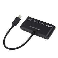 USB OTG & MHL To HDMI HDTV Adapter SD/TF Card Reader Portable Adapter