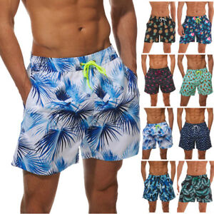 Men's Swimwear Shorts Casual Beach boardshorts Swimming Trunks Surf With pocket