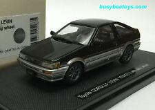 1/43 EBBRO 45187 TOYOTA AE86 COROLLA LEVIN 1600 GTV ALLOY WHEEL BLACK model car