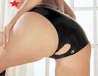 Latex Rubber Crotchless Knickers Sharon Sloane Open Crotch Pants Fetish Wear UK!