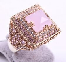 Turkish 925 SILVER HANDMADE Pink Agate Stone LADIES  WOMANS RING ALL SIZE US