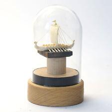 """Miniaturskulptur """"Wikinger Drachenboot""""  Mammut Stoßzahn, ca. 32 x 55 x 35mm"""