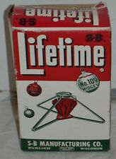 Vintage Lifetime Midget Christmas Tree Stand No. 109 W/ Box